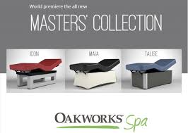 oakworks proluxe massage table oakworks spa masters collection massage tables massage beds