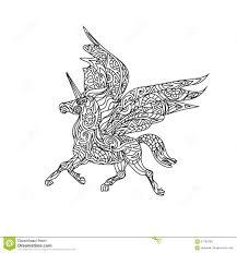unicorn coloring page stock illustration image 57782293