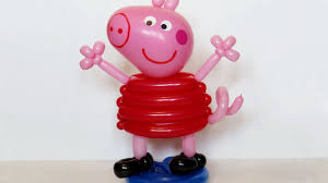 pig balloons peppa pig of balloons twisting tutorial subtitles