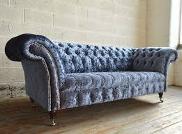 blue velvet chesterfield sofa 41 best velvet u0026 wool chesterfield sofas u0026 chairs images on
