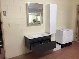 ibiza 900mm black linewood timber wood grain wall hung bathroom