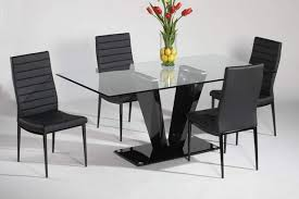 black contemporary dining table how to choose best modern dining table inoutinterior