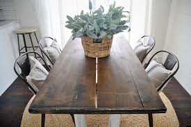 farmhouse table with metal chairs farm dining room table at home and interior design ideas