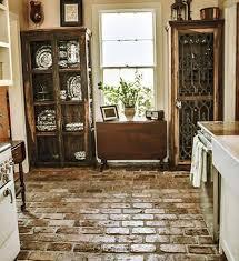 Brick Floor Kitchen by 36 Best Kitchen Images On Pinterest Kitchen Ideas Brick