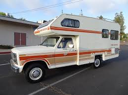 chevy motorhome rv motorhome class c b vintage camper shasta chinook f 250 1 owner