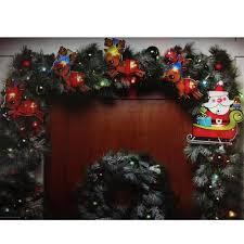 9 u0027 christmas light garland with 300 multi color mini lights