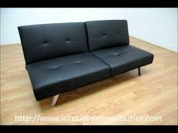 interiorexpress outlet ewing black modern futon sleeper sofa bed