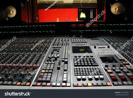 Recording Studio Mixing Desk by Low Angle Shot Mixing Desk Music Stock Photo 117023554 Shutterstock