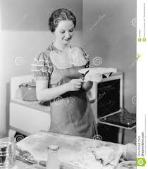 woman preparing a pie in the kitchen stock photo image 52018301