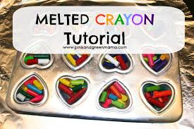crayon valentines pink and green you color my world valentines melted crayon