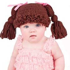 Cabbage Patch Halloween Costume Baby Amazon Melondipity U0027s Brunette Doll Baby Hat Pigtails