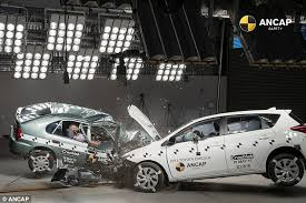 just a car for the shocking crash test shows how car safety has improved daily mail