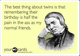 funny birthday ecard the best thing about twins is that