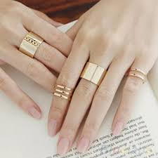 midi rings set jewelry new dainty midi rings set poshmark
