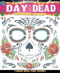 temporary day of the dead sugar skull unisex