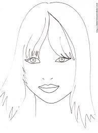 coloriage d u0027un visage de fille a frange coloriages de tête à modeler