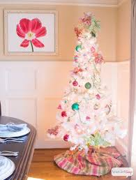 preppy pink green tree with vintage shiny brite