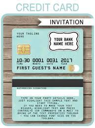 green credit card invitations mall scavenger hunt invitations