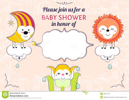 Card Shower Invitation Color Baby Shower Invitations Cards