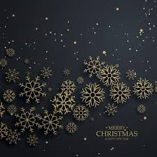 black christmas black christmas background with golden snowflakes vector free