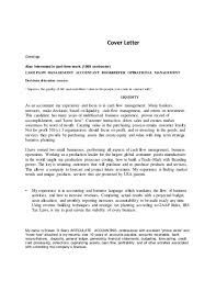 assistant financial accountant cover letter cover letter sample