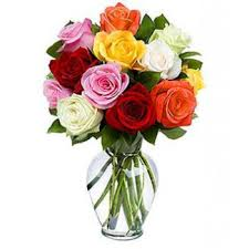 online flowers madrid flower delivery 10 mixed roses flower