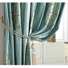 Faux Silk Embroidered Curtains Teal Faux Silk Curtains 100 Images 5 Styles Of Faux Silk