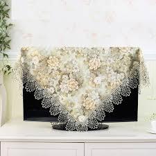 Decorative Flat Screen Tv Covers Aliexpress Com Buy 19 70 Inch Tv Cover Decorative Hood Curtain