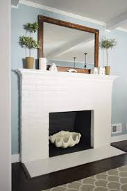 painted tile and brick store fireplace makeover planning buying materials house