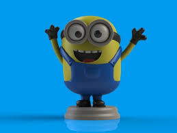 3d printable model minion bob cgtrader