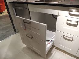 Kitchen Cabinet Trash Can Pull Out Rack Sack Bathroom Trash Can System In Cabinet Cans Pull Out Under