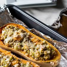 roasted butternut squash with turkey mj and hungryman
