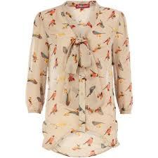 bird blouse bird print shirt dorothy perkins polyvore