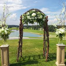 wedding arches made of tree branches real wedding archives dahlia floral design
