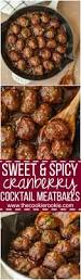 sweet and spicy cranberry cocktail meatballs the cookie rookie
