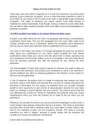 Basic Cover Letter Structure Basic Cover Letter Format