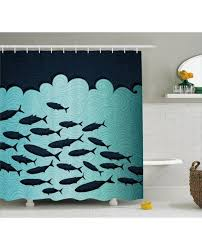 Shower Curtains With Fish Theme Fish Shower Curtain Surreal Ocean Life Theme Print For