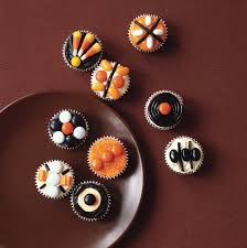 mini halloween pumpkin cupcakes recipe epicurious com