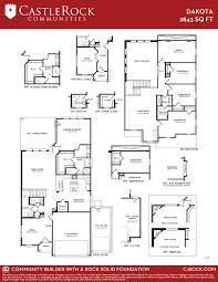 Floor Plan Castle Dakota Silver Home Plan By Castlerock Communities In Sunfield