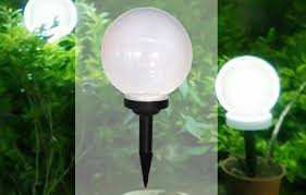 solar globe lights garden 40 off solar powered abs plastic garden globe light for just rs