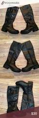 moto style boots black riding boots with zipper accent size 6 d fit and boots
