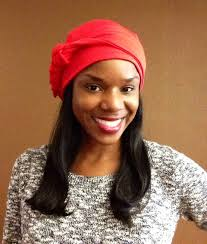 chemo hats with hair attached turban head scarf with human hair attached turban in red