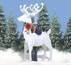 Extra Large Christmas Lawn Ornaments by Reindeer Are Awesome How Easy Would This Be I Want Some In My