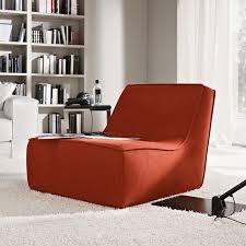 armchair modern happy modern lounge chair red orange