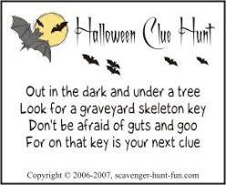 backyard treasure hunt halloween clue hunt with spook appeal