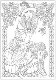 halloween coloring books adults steampunk fashion