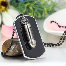 dog tag pendant necklace images Boniskiss army style mens cross bullet dog tag pendant necklace with 2 jpg