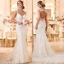 key back wedding dress 2016 stella york lace fitted wedding dress with key back