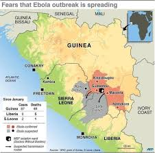 west africa map ebola fear confusion grip ebola hit west africa
