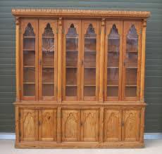 antique victorian pitch pine bookcase gothic antique victorian